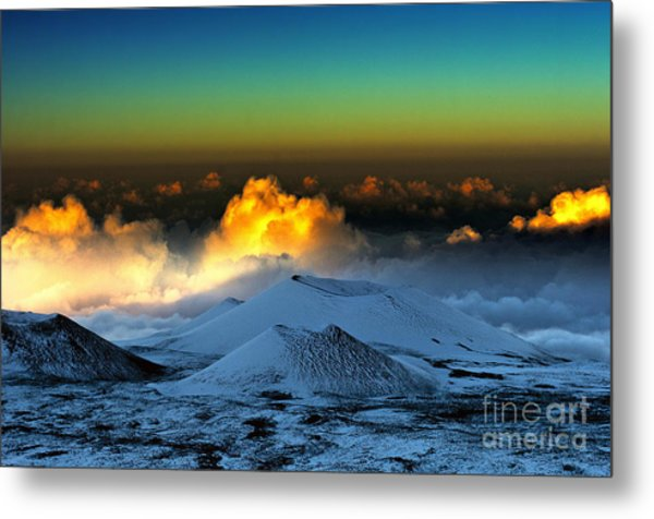 Sunset From Mauna Kea Metal Print by Karl Voss