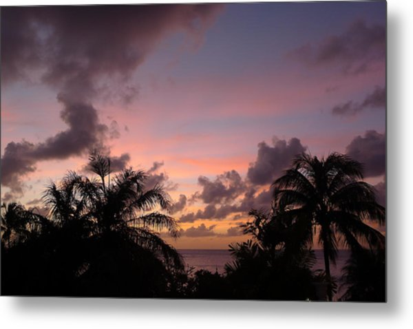 Sunset From Terrace 3 St. Lucia Metal Print