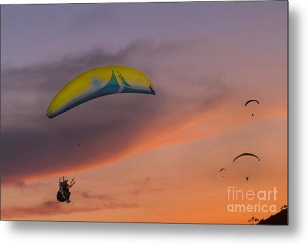 Sunset Gliders Metal Print by Soren Egeberg