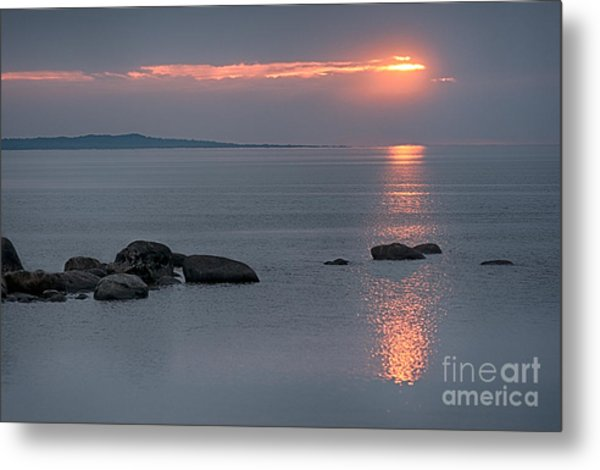 Sunset Glow At Awenda Beach Metal Print