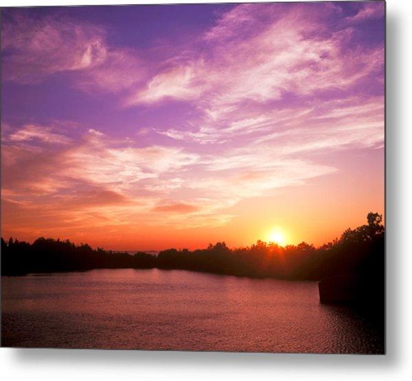 Sunset Halibut Point Metal Print