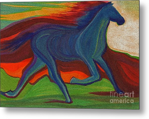Sunset Horse By Jrr Metal Print