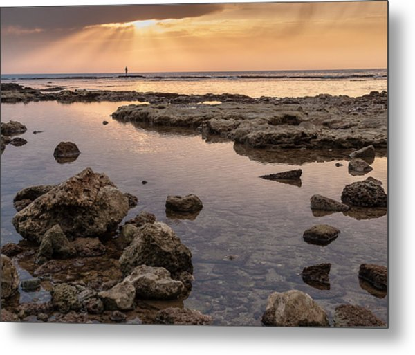 Sunset In Acre Metal Print