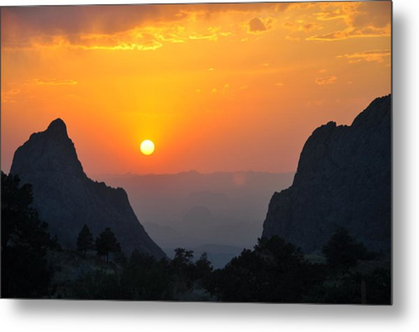 Sunset In Big Bend National Park Metal Print