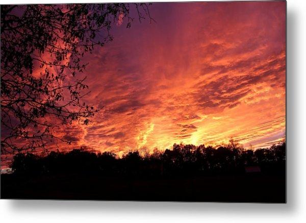 Sunset In Blue Ridge Foothills Metal Print