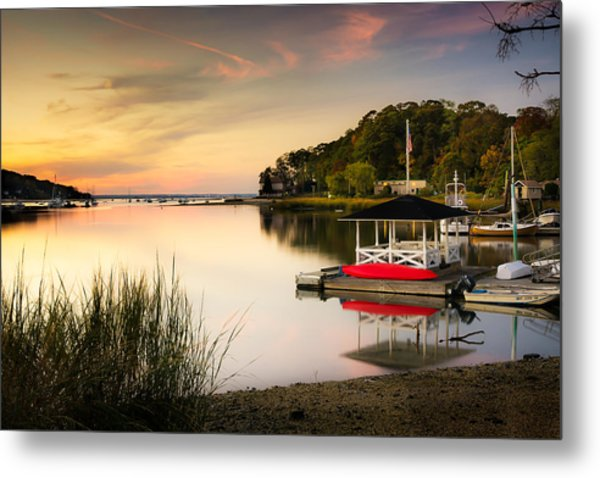 Sunset In Centerport Metal Print