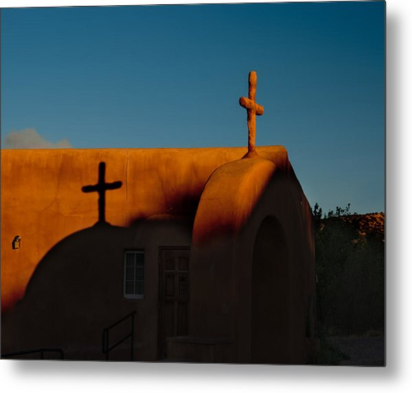 Sunset In Chimayo Nm Metal Print
