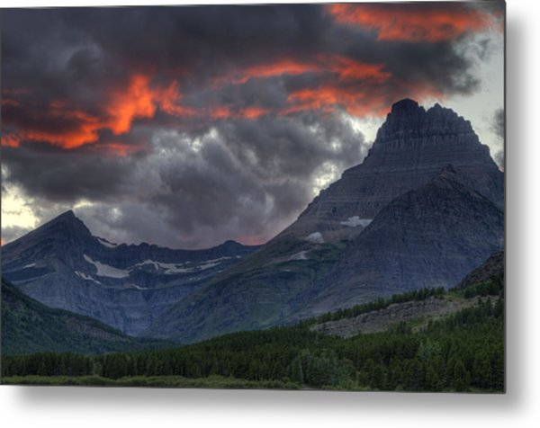 Metal Print featuring the photograph Sunset In Glacier by Darlene Bushue