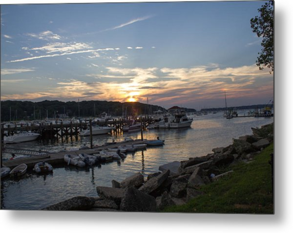 Sunset In Northport Metal Print