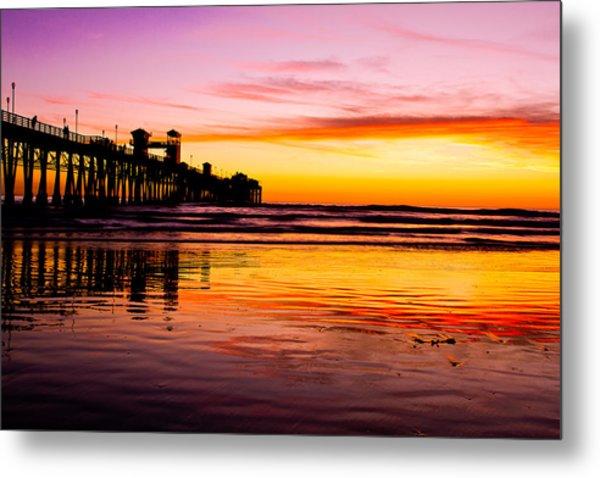 Sunset In Oceanside Metal Print