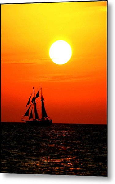 Sunset In Paradise Metal Print by Claudette Bujold-Poirier