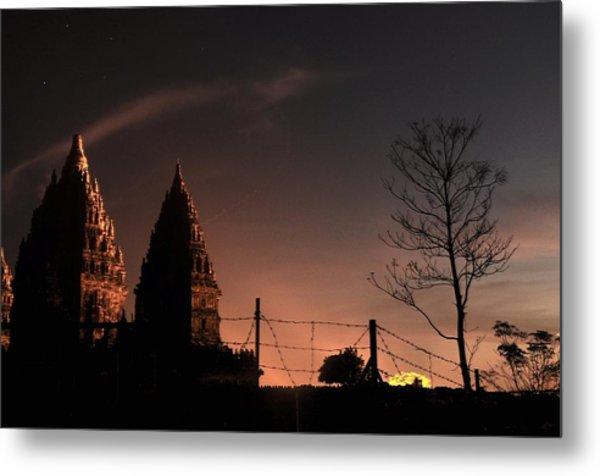 Sunset In Prambanan Metal Print by Achmad Bachtiar
