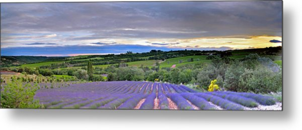 Sunset In Provence Metal Print