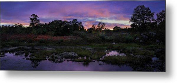 Sunset In Purple Along Highway 7 Metal Print