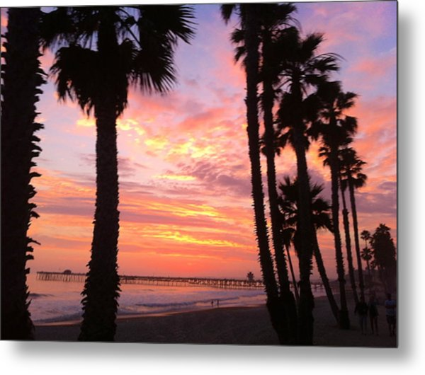 Sunset In San Clemente Metal Print