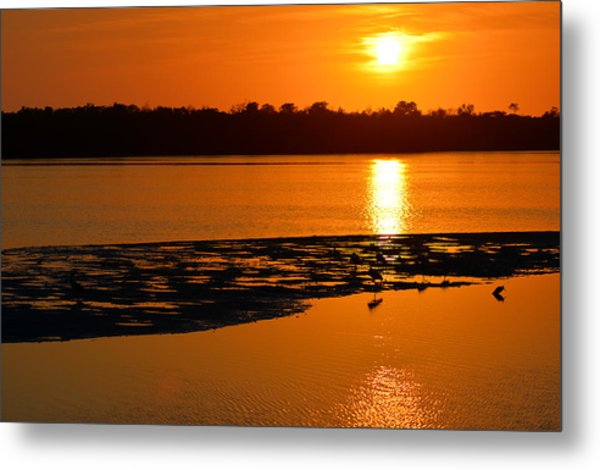 Sunset In Sanibel Metal Print