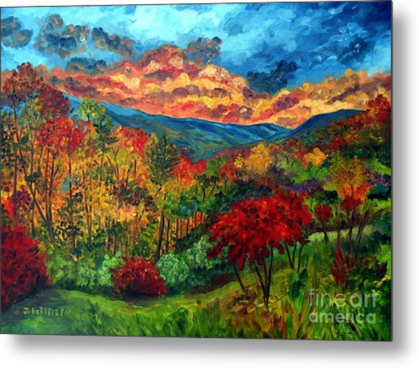Sunset In Shenandoah Valley Metal Print