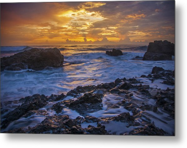 Sunset In Tamarindo Metal Print