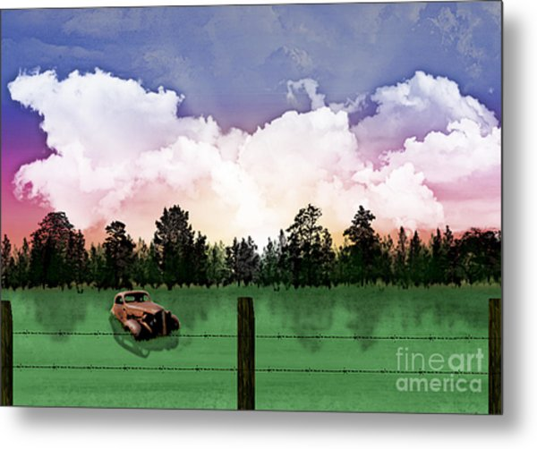 Sunset In The Boondocks Metal Print
