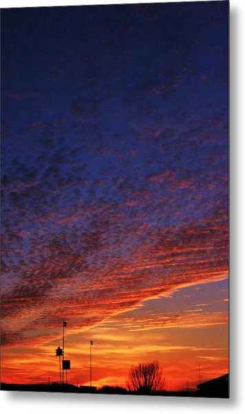 Sunset In The Clouds Metal Print by David Pauley
