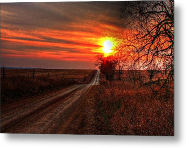 Sunset In The Country Metal Print
