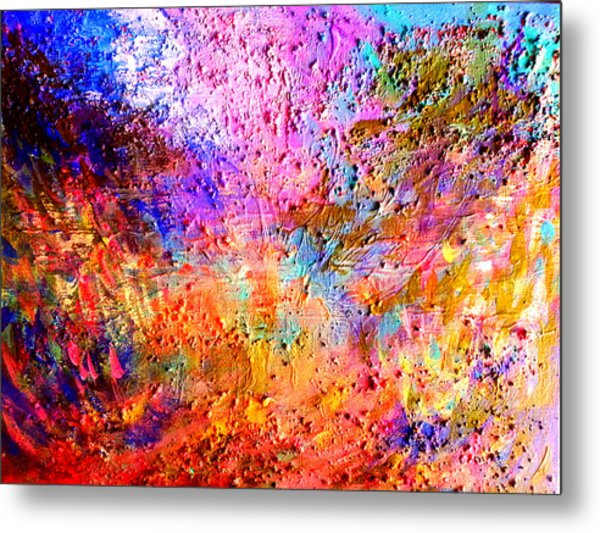 Sunset In The Garden Metal Print