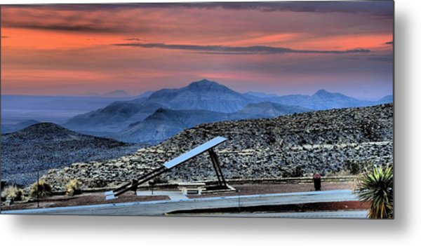 Sunset In The Guadalupes Metal Print