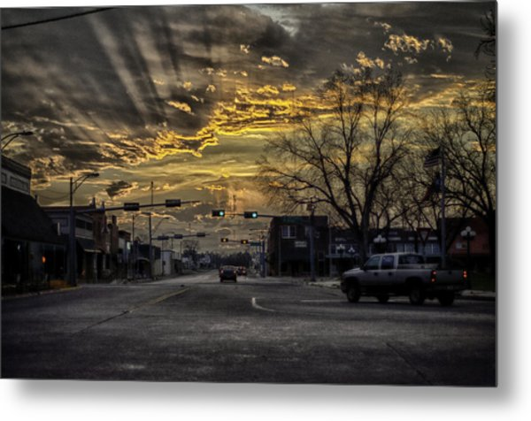Sunset In The Heart Of Texas Metal Print
