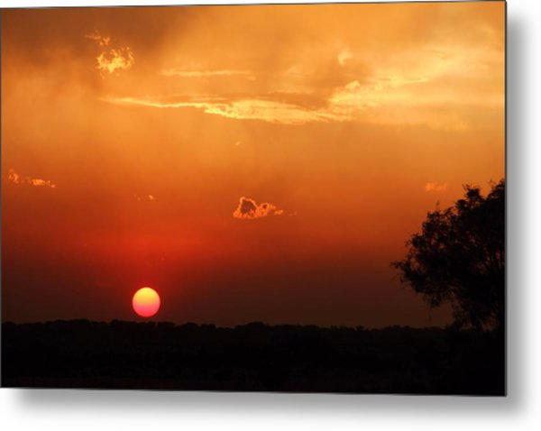 Sunset In West Texas Metal Print