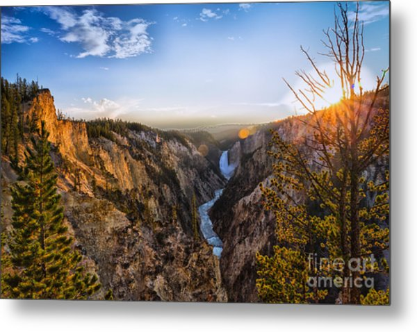Sunset In Yellowstone Grand Canyon Metal Print