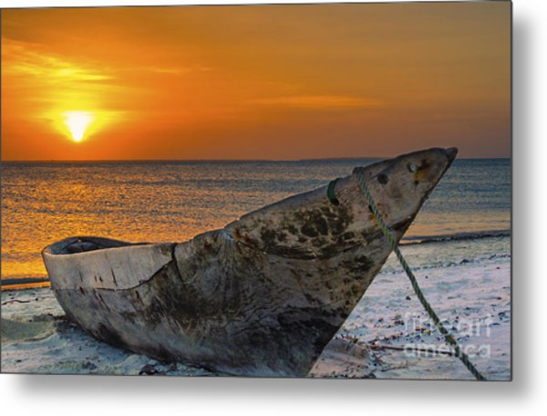 Sunset In Zanzibar - Kendwa Beach Metal Print by Pier Giorgio Mariani