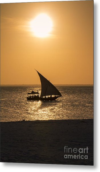 Sunset In Zanzibar Metal Print by Pier Giorgio Mariani