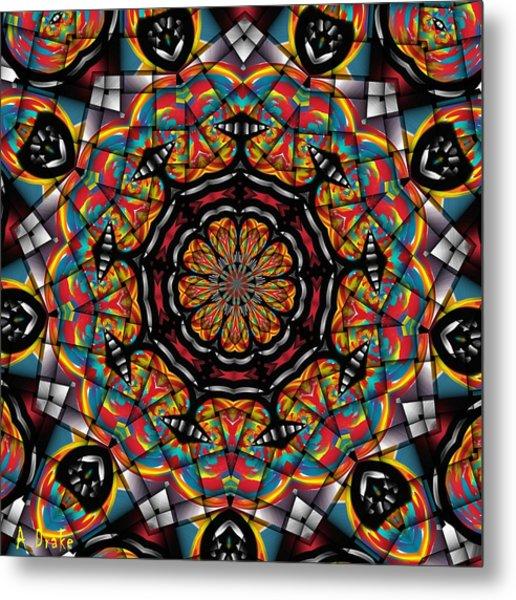 Sunset K 88 Kaleidoscope Metal Print