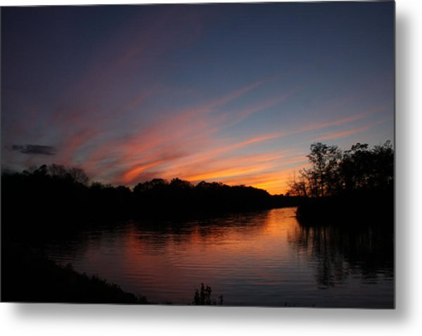 Sunset Lake Williams Metal Print