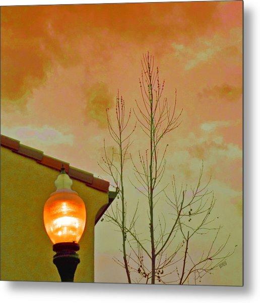 Sunset Lantern Metal Print