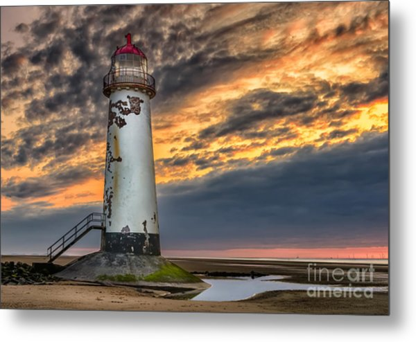 Sunset Lighthouse Metal Print