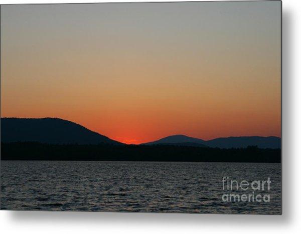 Sunset Lines Of Lake Umbagog  Metal Print