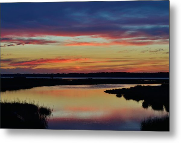 Sunset Marsh Metal Print