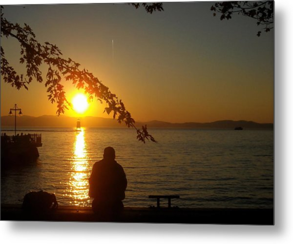 Sunset Meditation Metal Print