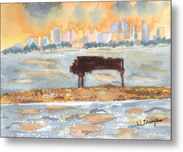 Sunset Miami Piano Bar  Metal Print