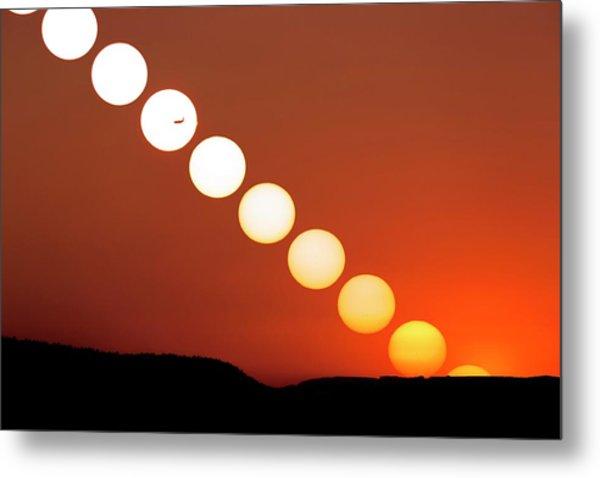 Sunset Multiple Exposure Metal Print by Dr Juerg Alean