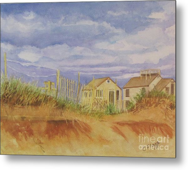 Sunset Nantucket Beach Metal Print