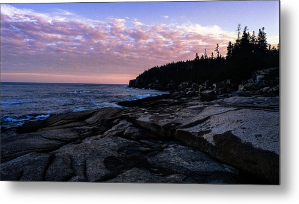 Sunset Near Otter Cliffs Metal Print