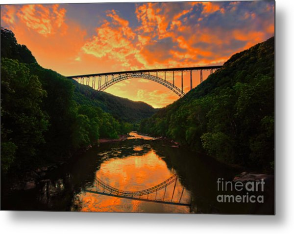 Sunset New River Gorge Metal Print