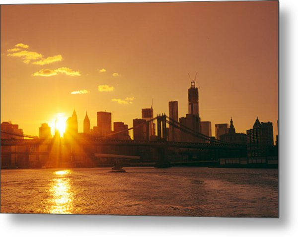 Sunset - New York City Metal Print