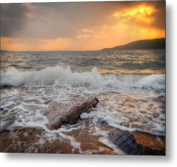 Sunset Of Firth Of Lorn Metal Print