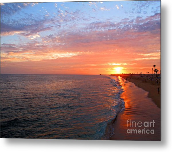 Sunset On Balboa Metal Print