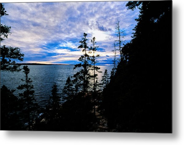 Sunset On Bass Harbor Metal Print
