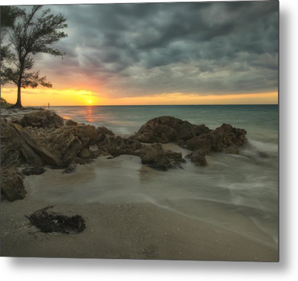 Sunset On Bean Point Metal Print