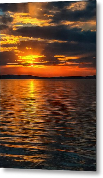 Sunset On Degray Lake Metal Print